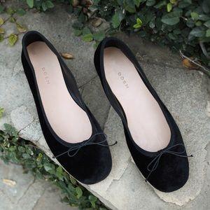 Dôen Ballerina Slipper Black Velvet size 38